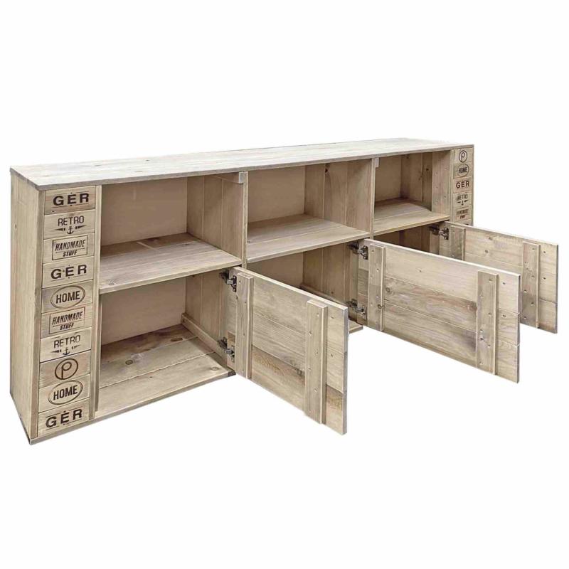 Große Kommode-TV-Schrank-Sideboard-Palettenmöbel