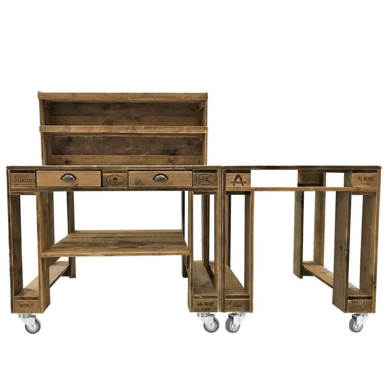 Grilltisch-Grillwagen-Palettenmöbel Bar-Europaletten