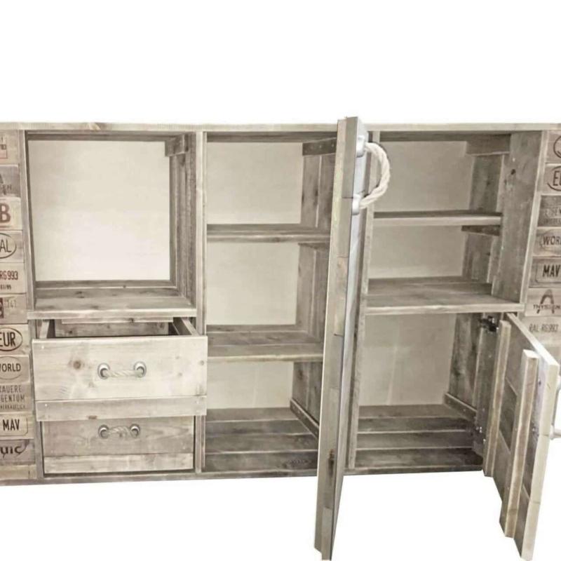 Palettenmöbel Kommode-Sideboard-Schrank aus Paletten
