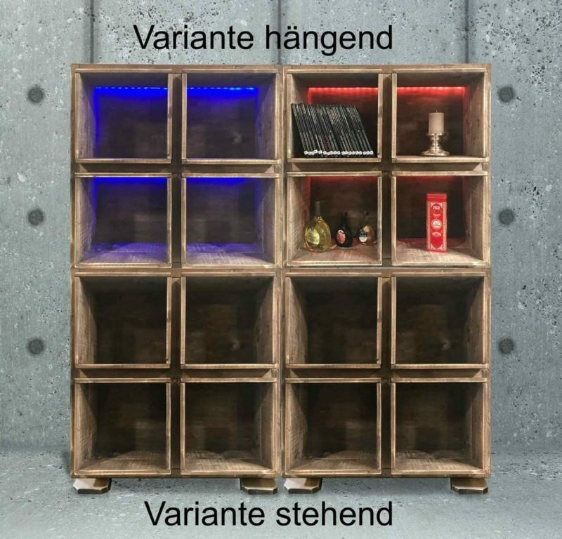 Regal-Palettenmöbel-Regalsystem mit led-Beleuchtung