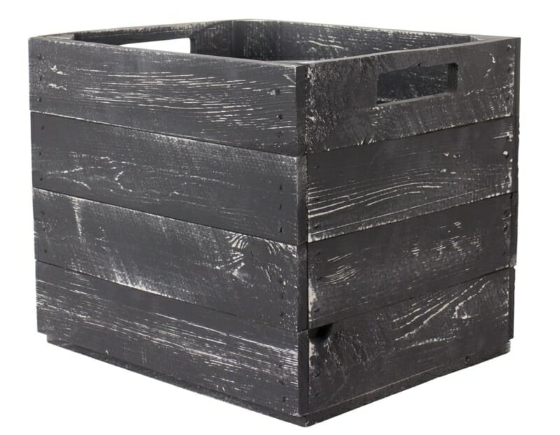 Kallax Regal Holzkiste-grau shabby chic