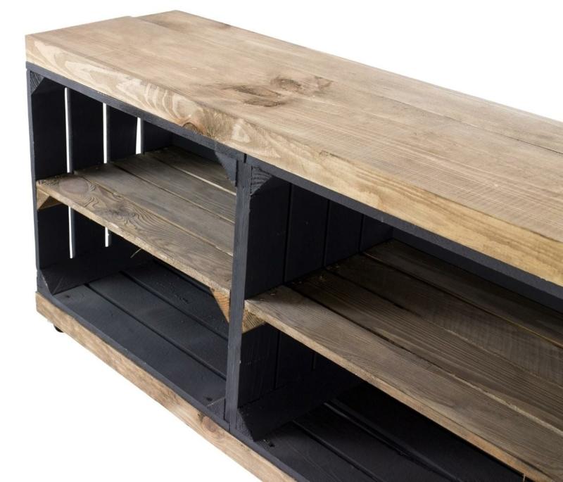 tv schrank aus regalkisten sideboard möbel