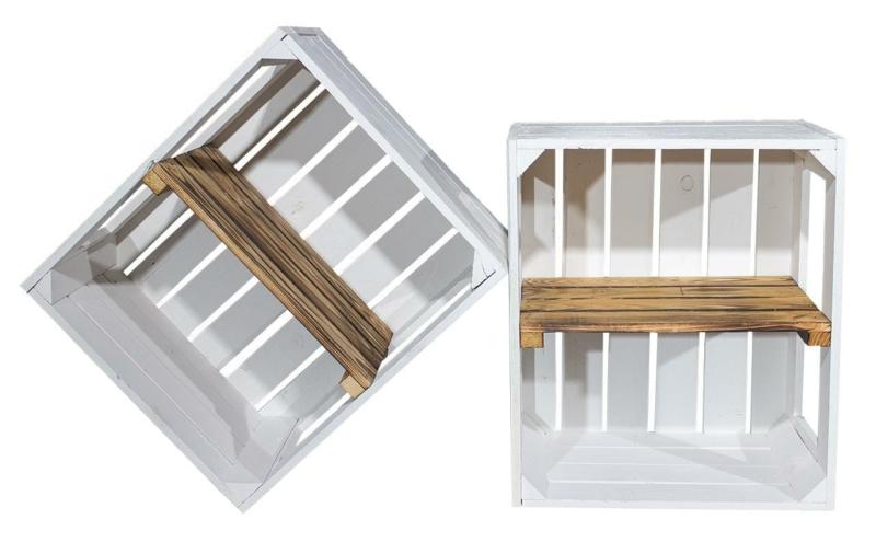 weiße display kiste regalkiste