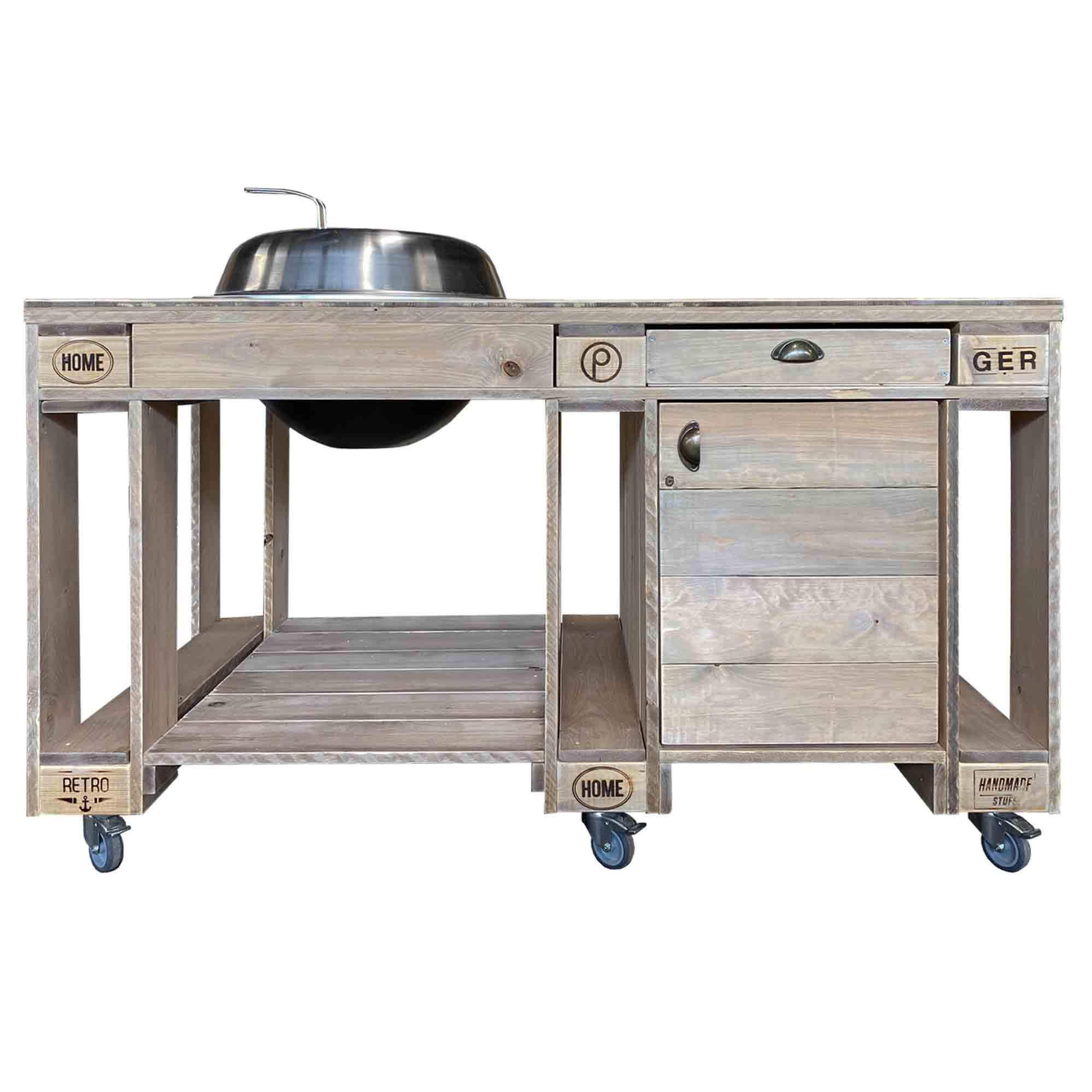 ᐅᐅ Outdoor Grill Tisch Saris Garage Shop | Palettenmöbel kaufen