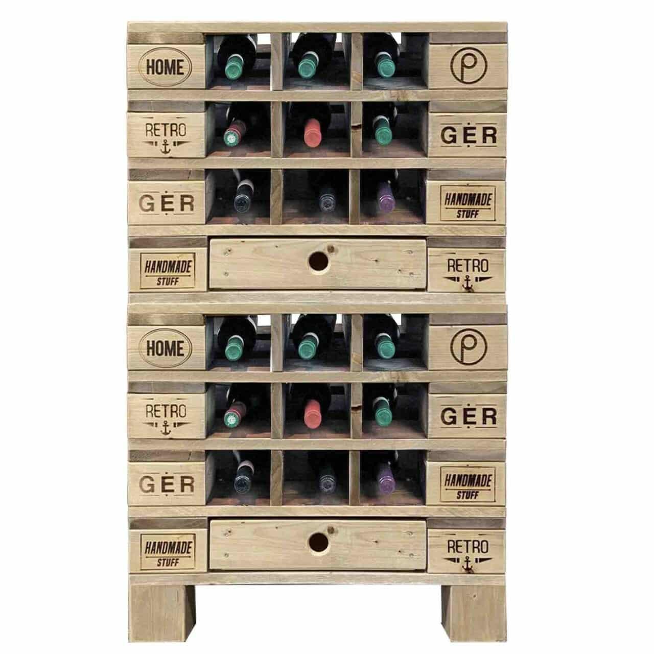 ᐅᐅ Paletten Weinkommode Schrank Fur 18 Flaschen