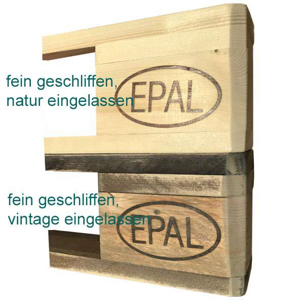 Weinregal-Palettenlook