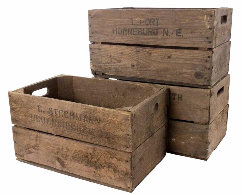 Birnenkiste aus Holz B-Ware