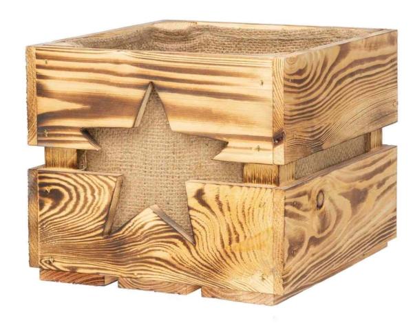 Dekokiste aus Holzkiste geschenkkorb