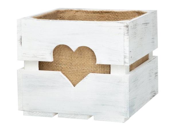 Geschenkkorb aus Holz Holzkiste
