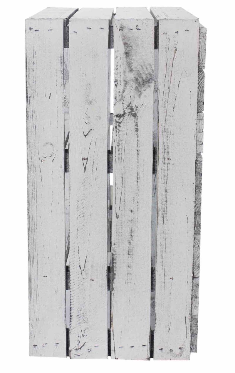Holzkiste Regalkiste Shabby White Vintage Design