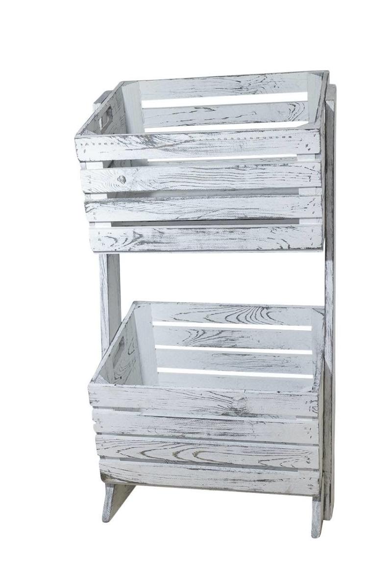 Holzkisten Möbel Holzkisten Regal in grau