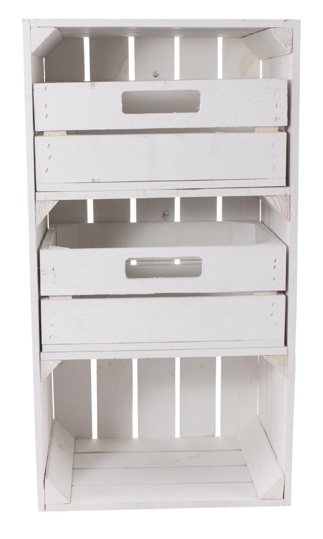 Holzkisten Schrank mit schubladen in weiß Obstkisten Holzkisten Möbel
