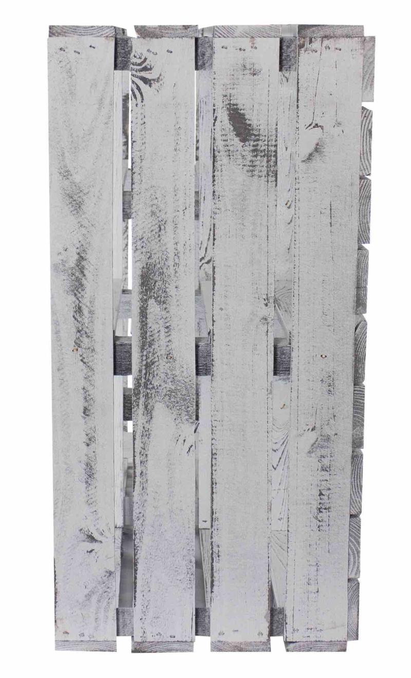 Holzschrank aus Holzkisten shabby white