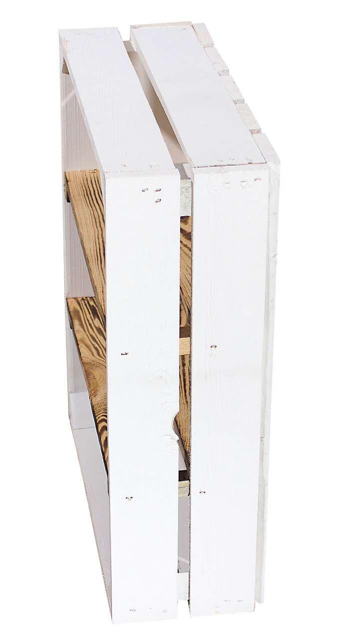 Regalkiste mit 2 Mittelbrettern in weiß
