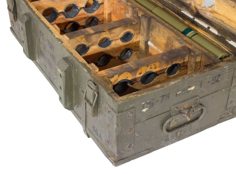 Große Holzkiste für Munition Dekokiste