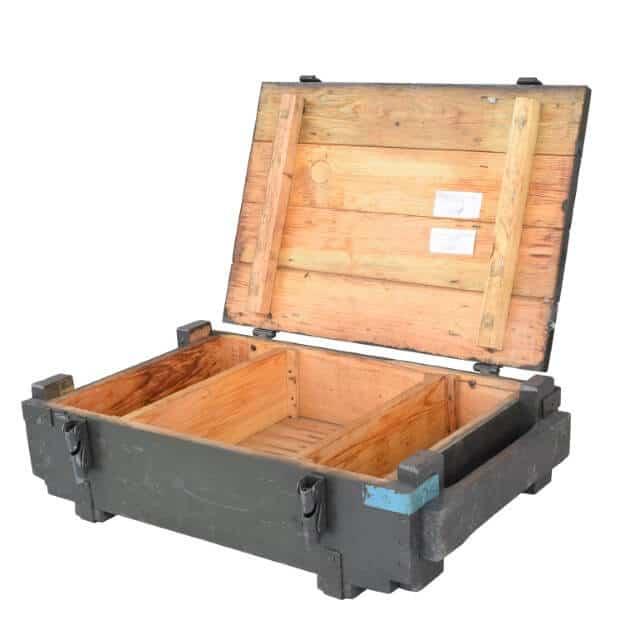 Holzkisten für Munition