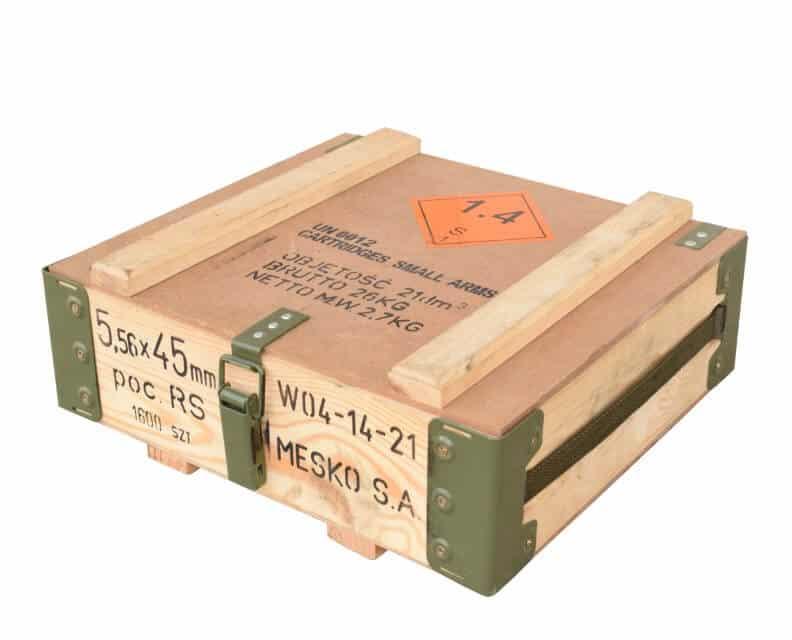 Munitionskiste aus Holz und Metall