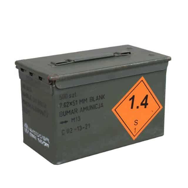 Munitionskiste aus Metall